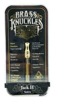 Buy Brass Knuckles Jack H High THC Cartridge